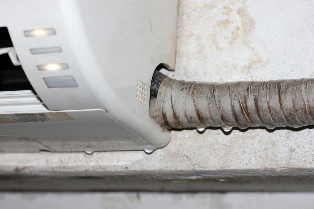 Máy lạnh thiếu gas làm cho ống đồng máy lạnh rỉ nước