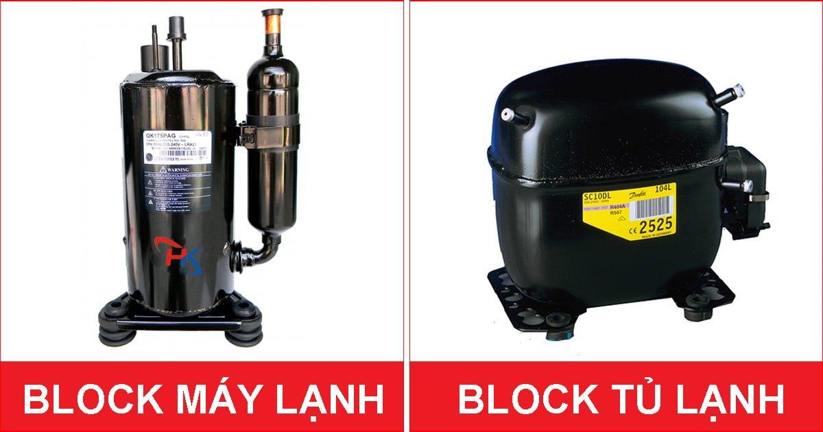 Dịch vụ thay block máy lạnh, tủ lạnh Điện Lạnh HK