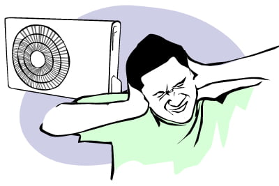 Máy lạnh phát ra tiếng ồn khó chịu