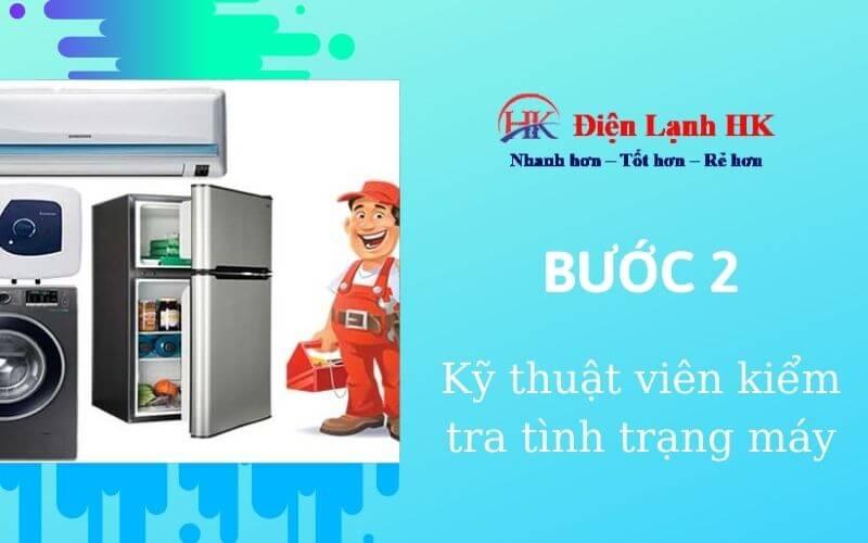Kĩ thuật viên tới kiểm tra máy lạnh tại nhà, tư vấn miễn phí